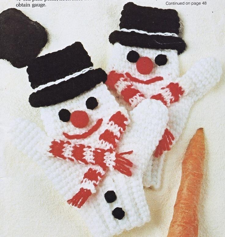 Knitting Pattern For Snowman Mittens : Snowman mittens... Knitting Pinterest