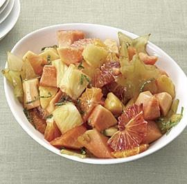 Pineapple, Papaya, Starfruit, and Blood Orange Salad