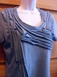 Tutorial: Rolled knit t-shirt embellishment · Sewing | CraftGossip.com