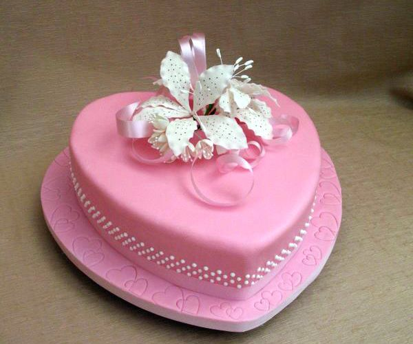 Cake Decor Hearts : wedding_cake_heart Cake decorating Pinterest