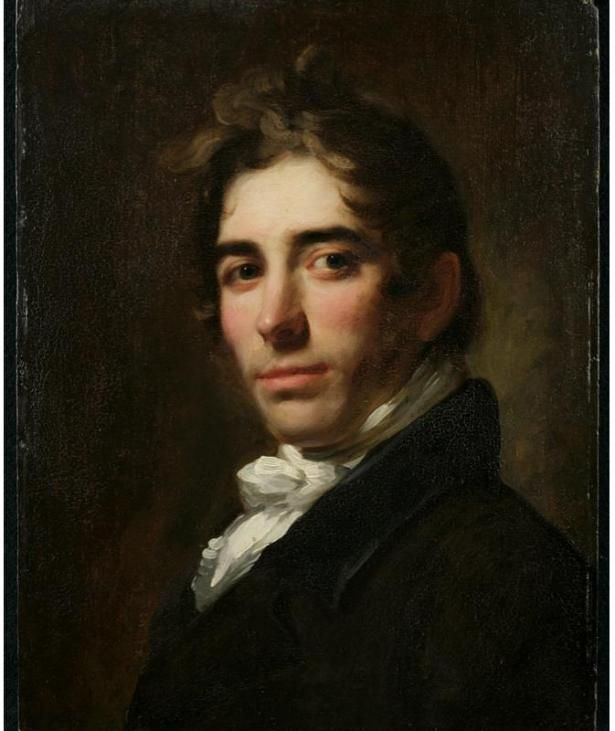 "William Jewett, Oil on wood panel, ca. 1819, Asher B. Durand (1796-1886)  Jewett exhibited a ""Portrait of a Young Gentleman"" in 1819 at the American Academy of Fine Arts, which was very likely this portrait of Durand"