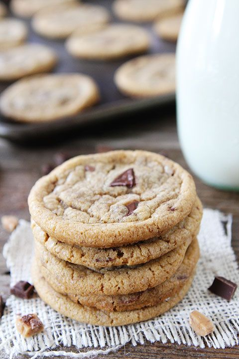 Brown Butter Toffee Chocolate Chunk Cookies Recipe on ...