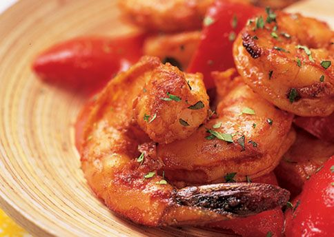 Garlic-Roasted Shrimp with Red Peppers and Smoked Paprika: Recipe ...