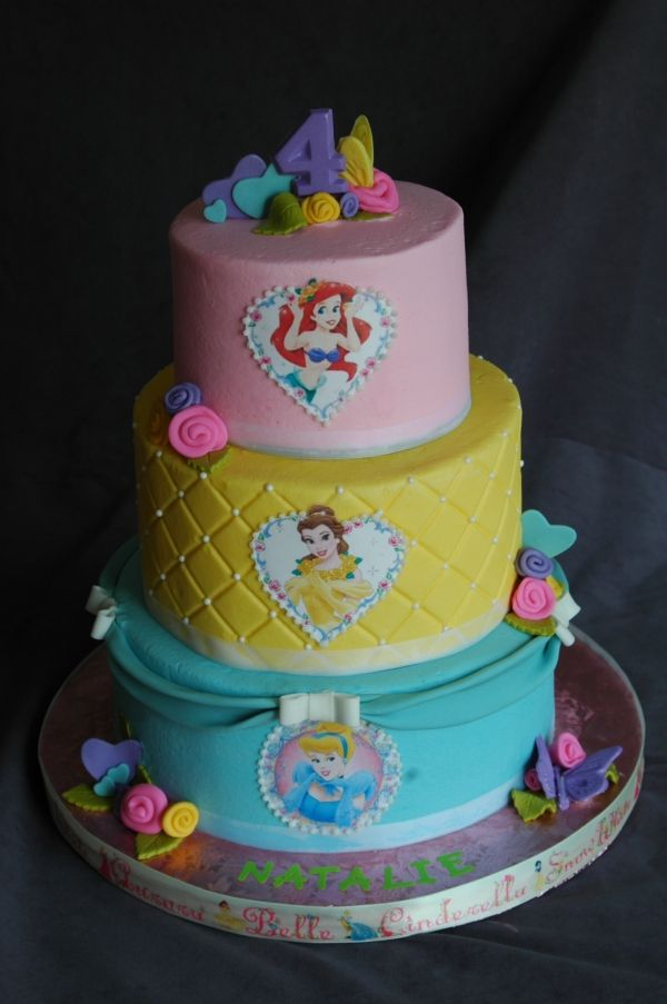 Birthday Cake Images Disney : disney princess fondant cakes Pinterest