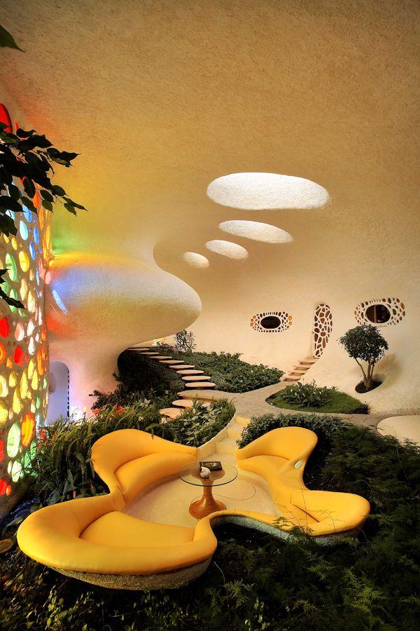 Casa nautilus javier senosiain beautiful places for Nautilus garden designs
