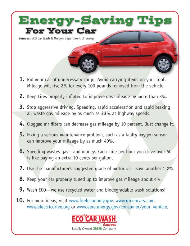 Energy Saving Tips For Your Car Car Care Tips Amp Tricks