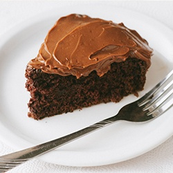 Chocolate sour cream frosting.
