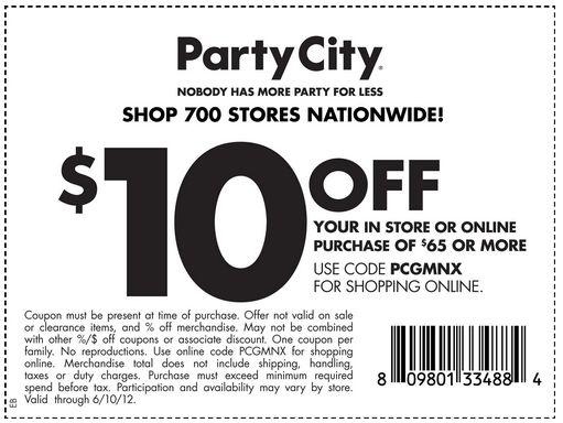Partycity.ca coupons 2018