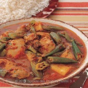 Chicken Sanuna Recipe - Yemeni Chicken Stew with Okra