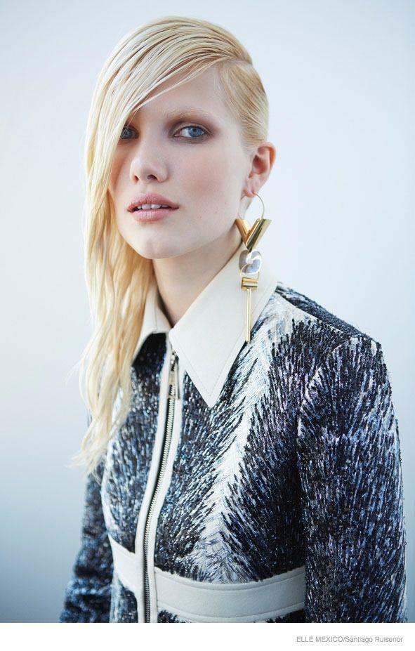 louis vuitton fall 2014 fashion shoot05 Yulia Terrenti Models Louis Vuitton Fall Looks for Elle Mexico by Santiago Ruisenor