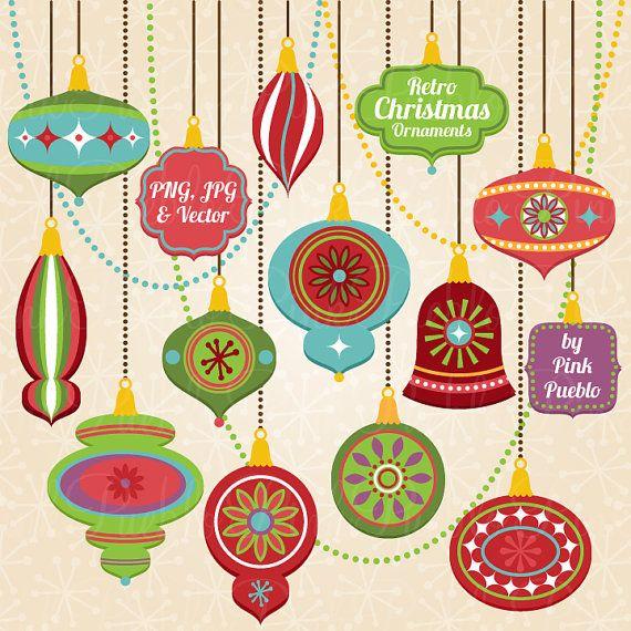 ornament clipart clip art vintage christmas decorations clipart clip    Vintage Christmas Ornaments Clipart
