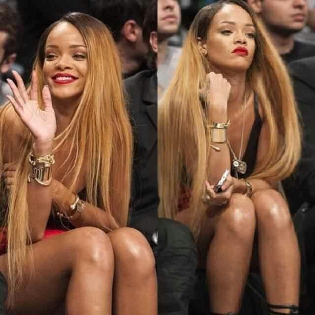 Rihanna Long Ombr 233 Hair Hairstyles Pinterest