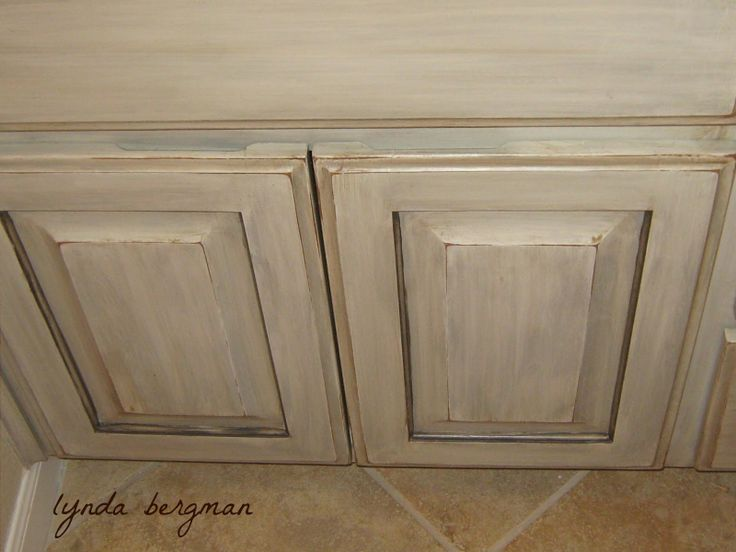I love the finish on these cabinets