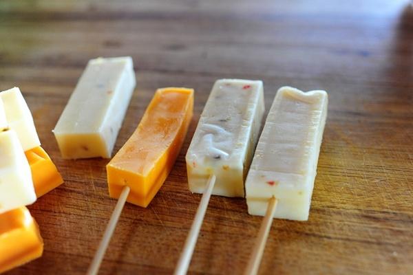 Cheese-on-a-Stick | Recipes/Kitchen | Pinterest