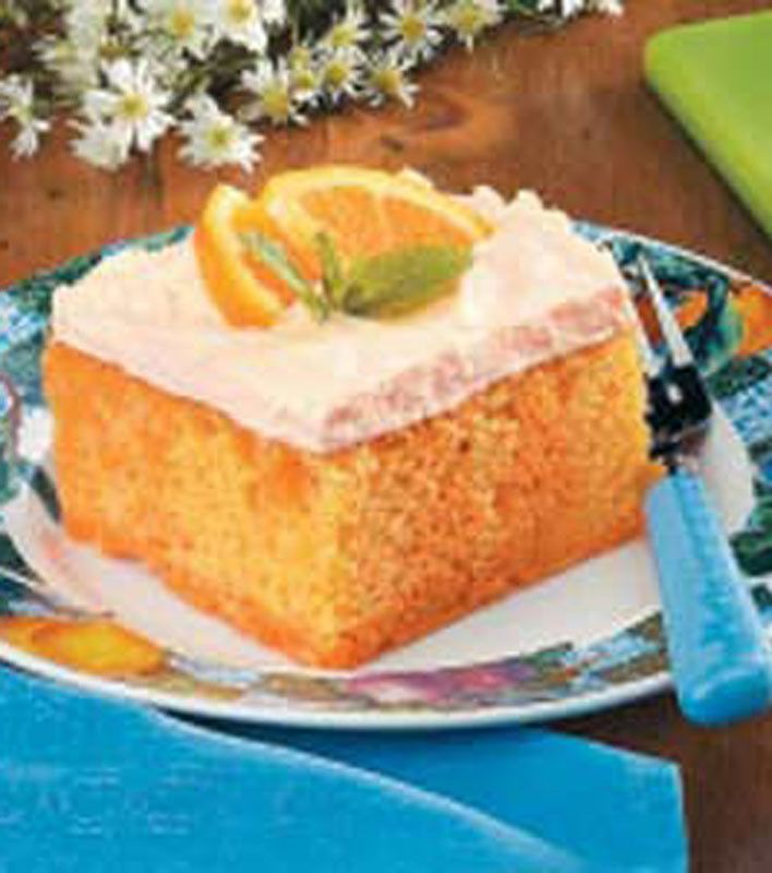 Orange Cream Cake | Appetizers ☆ Party Food Recipes | Pinterest