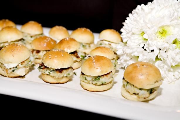 Scallop Burger Sliders With a Cilantro-Lime Mayo.....These were served ...