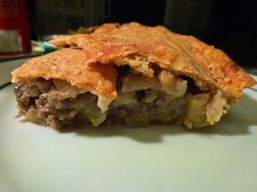 Apple And Sausage Pie Recipe — Dishmaps