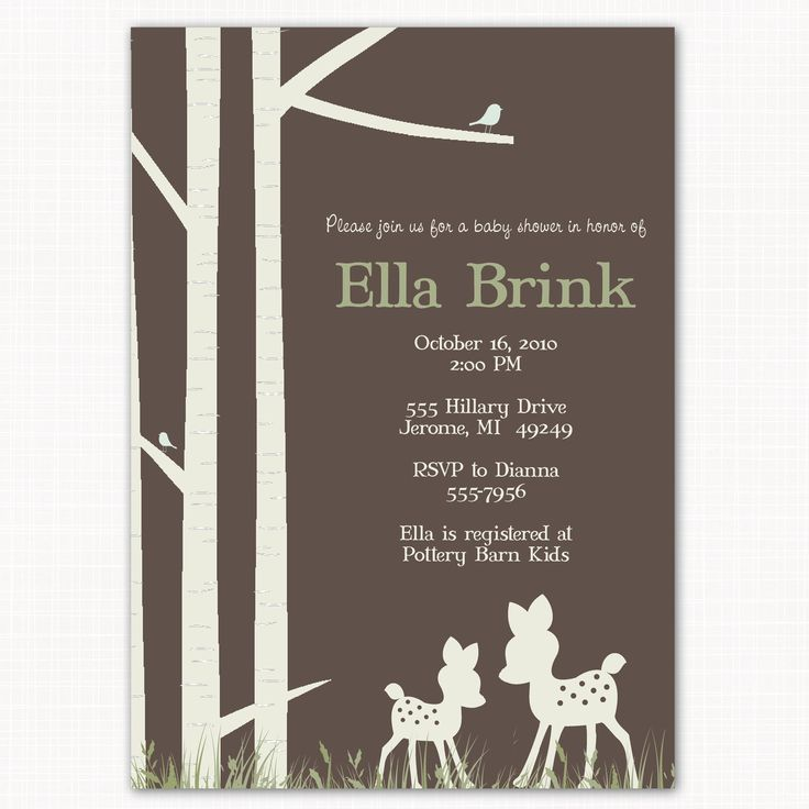 deer baby shower invitation modern gender neutral oh deer