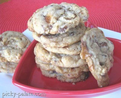 Butterfinger Milky Way Chocolate Chunk Cookies. YUM
