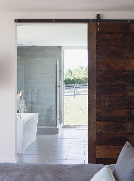 Sliding Bathroom Barn Door Say Yes Bed And Bath Pinterest