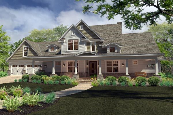 Country Farmhouse Southern House Plan 75138