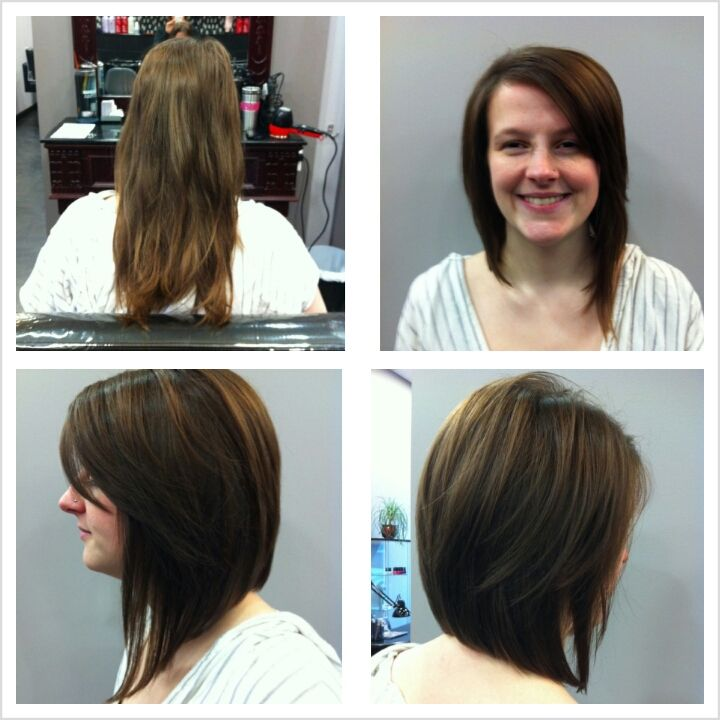 Long Asymmetrical Bob Haircut. ((i dont want so much