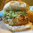 """Green Chili Chicken Burgers """"These burgers are a slightly spicy ..."""