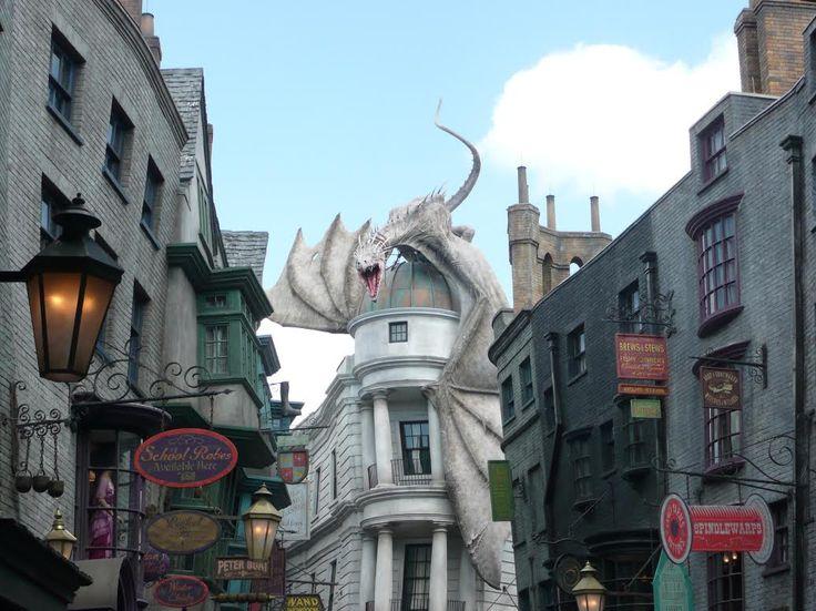 Firebreathing dragon - Diagon Alley