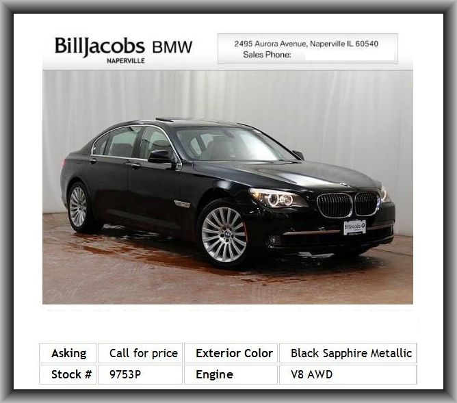 2011 BMW 7 Series 750Li XDrive Sedan