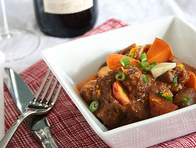 orange ginger beef stew with sweet potatoes and parsnips its a one pot ...