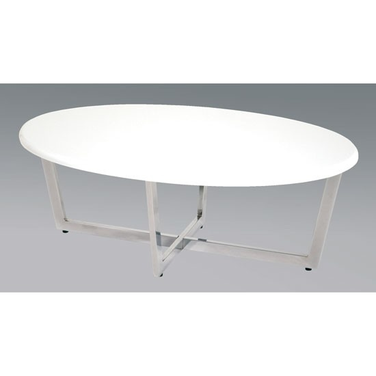 Contemporary Oval White Coffee Table White Pinterest