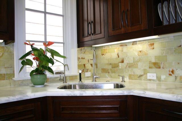green onyx tile backsplash decor pinterest