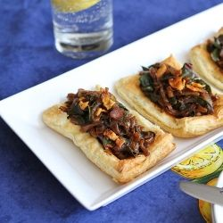 Caramelized Onion, Pancetta & Chard Tart is fancy without the effort.
