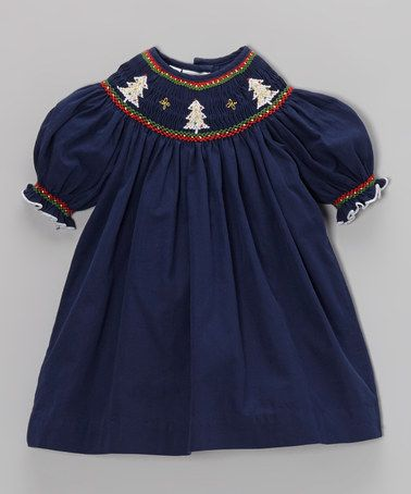 Take a look at this navy white christmas bishop dress infant amp girls