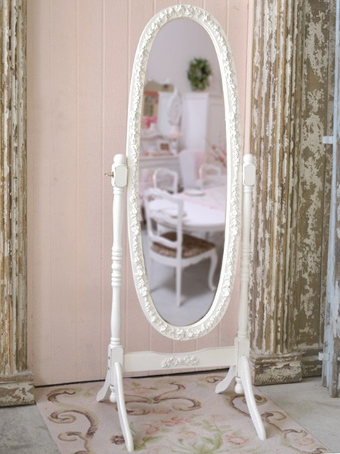 Bella Collection White Cheval Rose Mirror