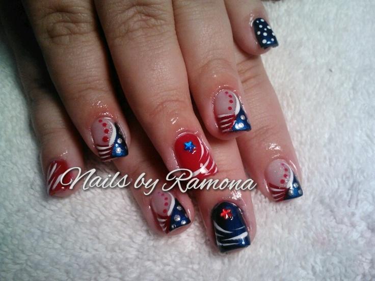 4 of july nail design