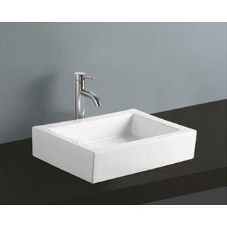 18 Inch Bathroom Sink : White Vitreous China 18-inch Vessel Bathroom Sink Overstock.com ...