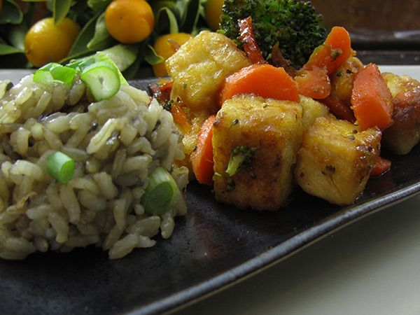 Gluten Free Vegan Orange Tofu, Kung Hei Fat Choy — The Tomato Tart
