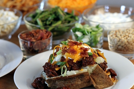 Baked potato bar!!!! We're sooo doing this!