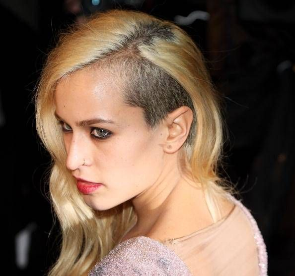Alice Dellal, long hair, shaved