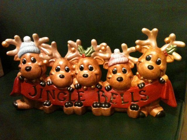 Lighted - Jingle Bells Reindeer | My Ceramics ! | Pinterest