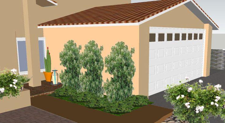 3d front door area with plants 3d landscape designs - Outdoor plants for front door ...