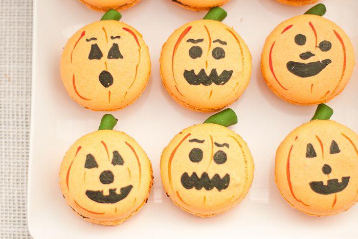 Pumpkin Macarons Recipe — Dishmaps