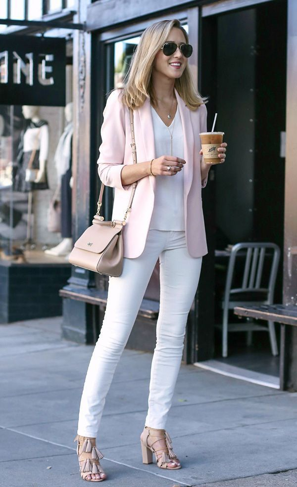 Outfits with Pale Pink Blazers-19 Ways to Wear pink Blazers Outfits with Pale Pink Blazers-19 Ways to Wear pink Blazers new foto