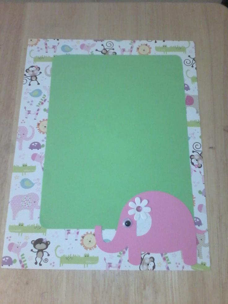 baby or scriptures in the pink safari girl 39 s baby shower scrapbook s
