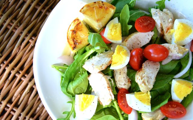 Grilled Lemon Chicken Cobb Salad | Dairy, Wheat, Soy free | Pinterest