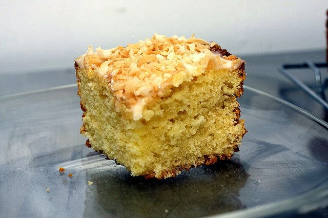 this cake is super yummy. key lime coconut cake by smitten