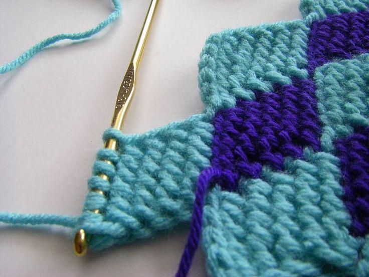 ... entrelac throwhttp www nikkiinstitches com tunisian crochet entrelac