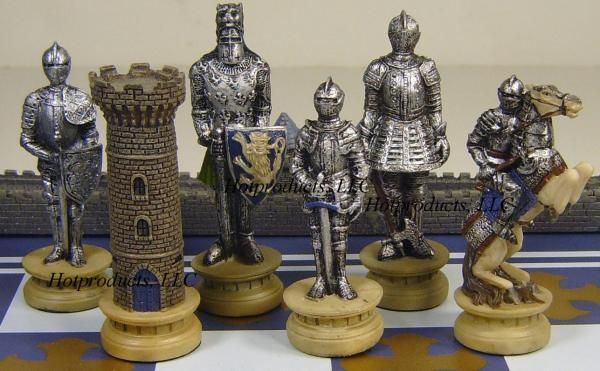 Warrior medieval times chess set w 18 castle board - Medieval times chess set ...