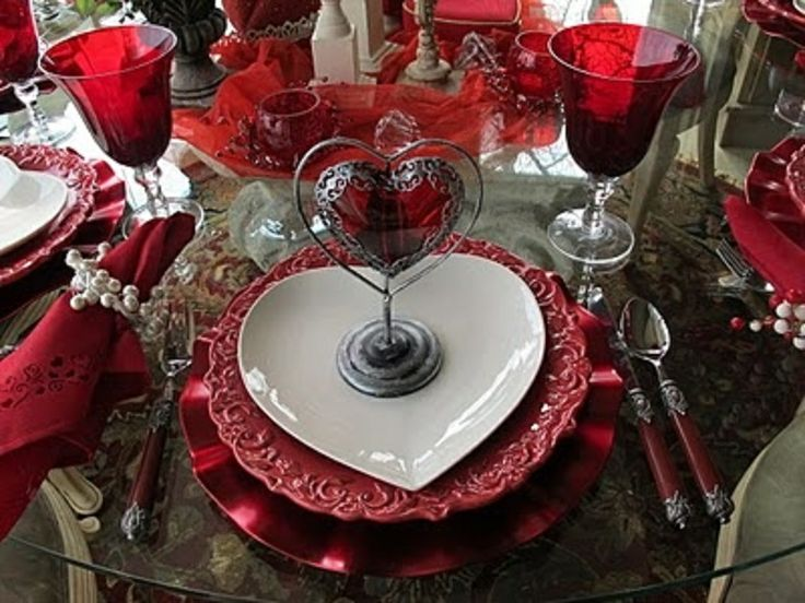 Valentines table setting  Holiday Table Setting ::: Valentine  Pin ...